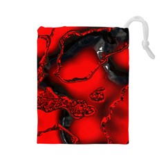 Abstract Art 11 Drawstring Pouches (large)
