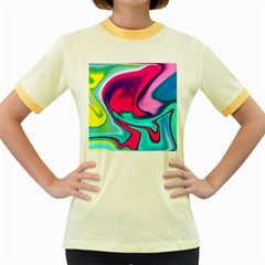Fluid Art 22 Women s Fitted Ringer T-Shirts