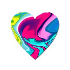 Fluid Art 22 Heart Magnet