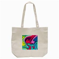 Fluid Art 22 Tote Bag (Cream)