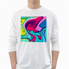 Fluid Art 22 White Long Sleeve T-Shirts