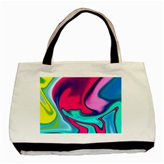 Fluid Art 22 Basic Tote Bag (two Sides)