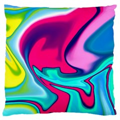Fluid Art 22 Large Flano Cushion Cases (one Side)