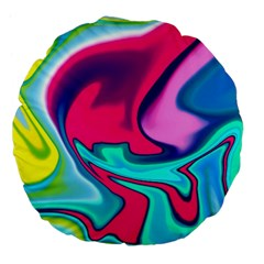 Fluid Art 22 Large 18  Premium Flano Round Cushions