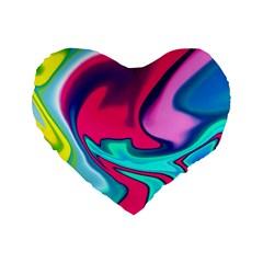 Fluid Art 22 Standard 16  Premium Flano Heart Shape Cushions