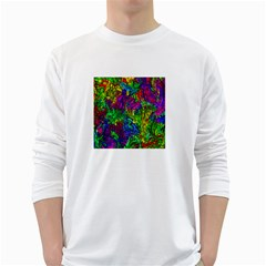 Liquid Plastic White Long Sleeve T-Shirts