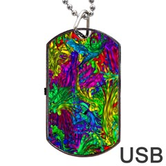 Liquid Plastic Dog Tag Usb Flash (one Side)