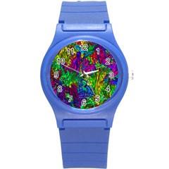 Liquid Plastic Round Plastic Sport Watch (s)