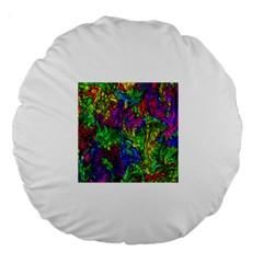 Liquid Plastic Large 18  Premium Round Cushions