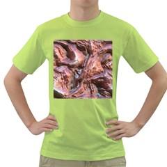Wet Metal Structure Green T-Shirt