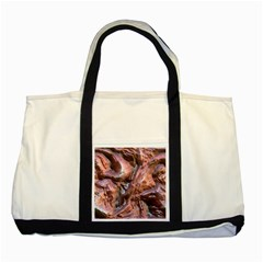 Wet Metal Structure Two Tone Tote Bag