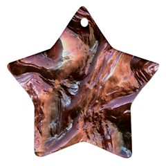 Wet Metal Structure Star Ornament (two Sides)