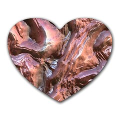 Wet Metal Structure Heart Mousepads