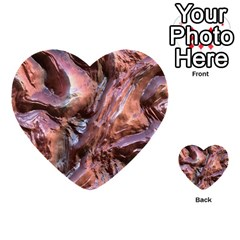 Wet Metal Structure Multi Purpose Cards (heart)