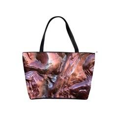 Wet Metal Structure Shoulder Handbags