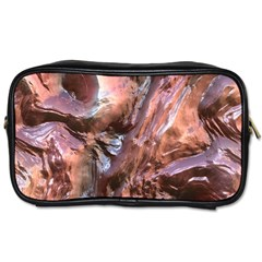 Wet Metal Structure Toiletries Bags