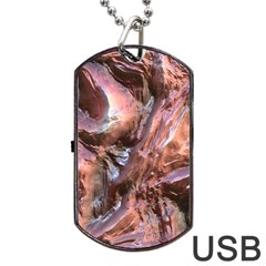Wet Metal Structure Dog Tag USB Flash (One Side)