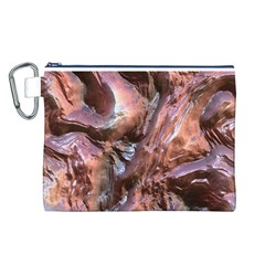 Wet Metal Structure Canvas Cosmetic Bag (L)