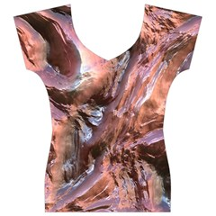 Wet Metal Structure Women s V-Neck Cap Sleeve Top