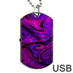 Wet Wallpaper, Pink Dog Tag Usb Flash (one Side)