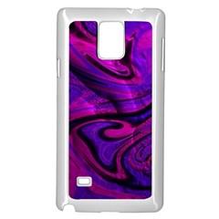 Wet Wallpaper, Pink Samsung Galaxy Note 4 Case (White)