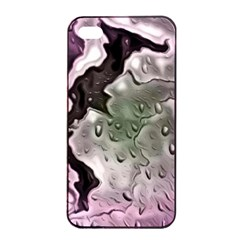 Wet Metal Pink Apple Iphone 4/4s Seamless Case (black)