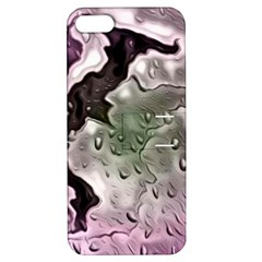 Wet Metal Pink Apple Iphone 5 Hardshell Case With Stand