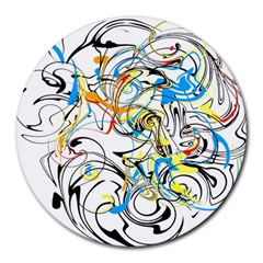 Abstract Fun Design Round Mousepads