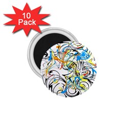 Abstract Fun Design 1 75  Magnets (10 Pack)