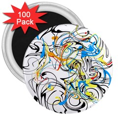 Abstract Fun Design 3  Magnets (100 pack)