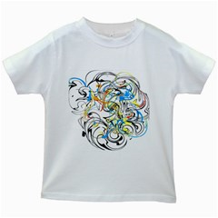 Abstract Fun Design Kids White T-Shirts