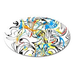 Abstract Fun Design Oval Magnet