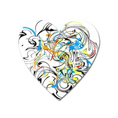 Abstract Fun Design Heart Magnet