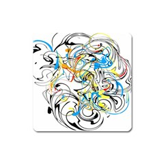 Abstract Fun Design Square Magnet