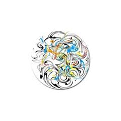 Abstract Fun Design Golf Ball Marker