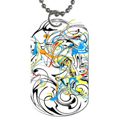 Abstract Fun Design Dog Tag (two Sides)