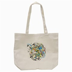 Abstract Fun Design Tote Bag (Cream)