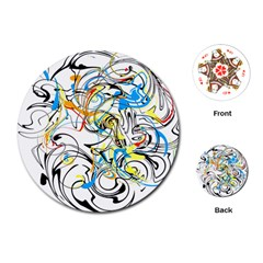 Abstract Fun Design Playing Cards (Round)