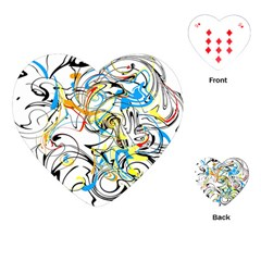 Abstract Fun Design Playing Cards (heart)