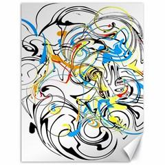 Abstract Fun Design Canvas 18  X 24