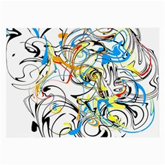 Abstract Fun Design Large Glasses Cloth (2-Side)