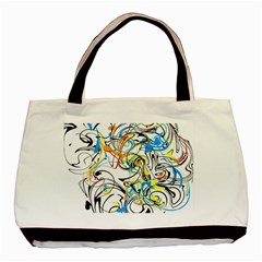 Abstract Fun Design Basic Tote Bag (two Sides)