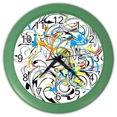 Abstract Fun Design Color Wall Clocks
