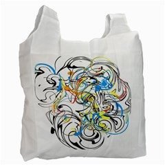Abstract Fun Design Recycle Bag (one Side)