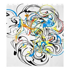 Abstract Fun Design Shower Curtain 66  x 72  (Large)