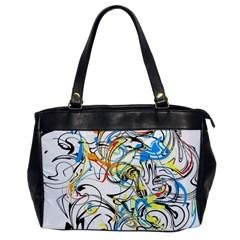 Abstract Fun Design Office Handbags