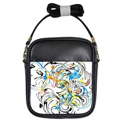Abstract Fun Design Girls Sling Bags