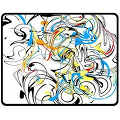 Abstract Fun Design Fleece Blanket (Medium)