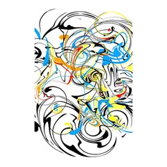 Abstract Fun Design Shower Curtain 48  X 72  (small)