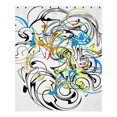 Abstract Fun Design Shower Curtain 60  X 72  (medium)